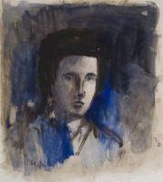 Selbstportraet in Blau